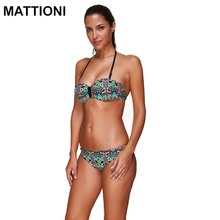 MATTIONI Women Sexy Bikini 2017 Low Waist Halter Swimsuit Swimwear Sexy Brazilian Bikini Set Women's Swimming Suit beach wear