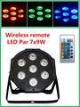 Беспроводной пульт дистанционного управления 7x9 W DMX RGB Led Телевизор С Номинальной Света Высокой Мощности с Профессиональным для Партии КТВ дискотека DJ