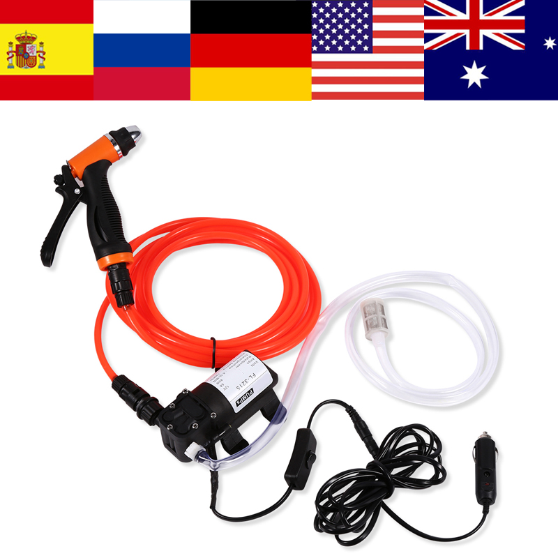 12v Portable High Pressure Self-priming Quick Car Cleaning Water Pump Electrical Washer Kit Garden Supplies