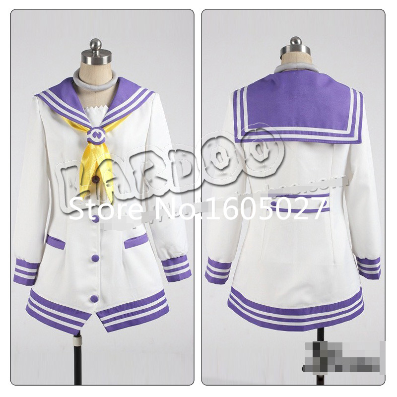Anime Hyperdimension Neptunia Nepgear Party Dress Suit Uniforms Cosplay Costume Custom-made Any Size NEW