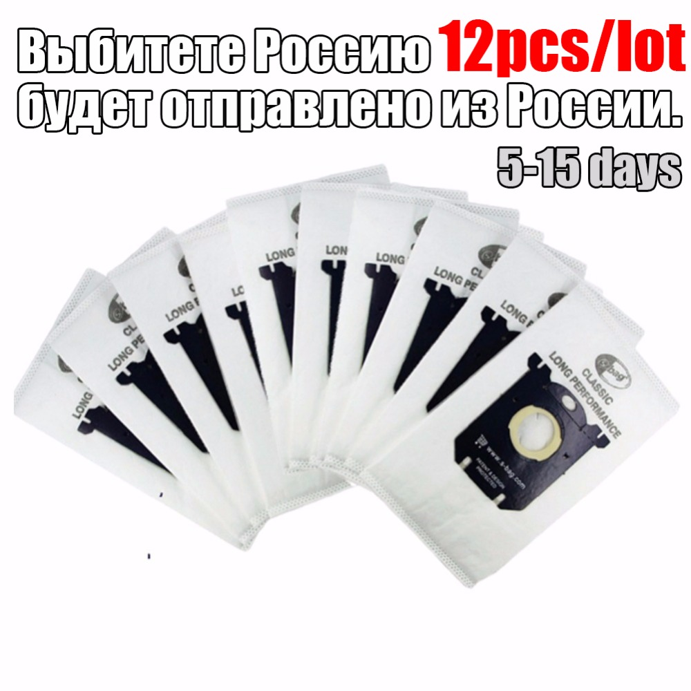 12pcs/lot Vacuum Cleaner Bags filter Electrolux S-bag for FC8020 FC8130 FC8350 FC8404 HR8300 AEG Tornado Volta standard bag s bag dust filter bag for philips fc8220 fc8130 fc8350 fc8404 fc9170 fc9062 fc9161electrolux zanussi volta tornado quelle