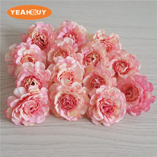 100pcs 8cm Fabric Artificial silk orchid flowers DIY Wedding decoration flower wreath headwear cap decorative accessories