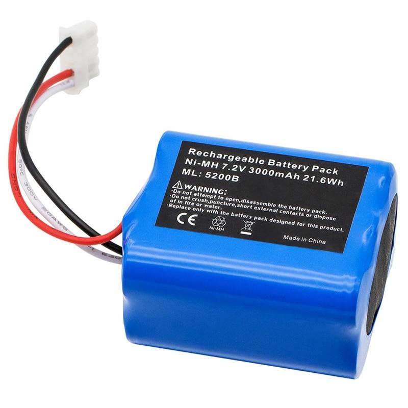 7.2V 3000Mah Ni-Mh Battery Replacement For Irobot Mint 5200 5200B Irobot Braava 380T Floor Cleaner