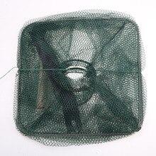 Hot Foldable Nylon Fishing Net Catch Crab Fish Crawdad Shrimp Minnow Mesh Cage Fishing Bait Trap Cast Dip Drift Shrimping Net