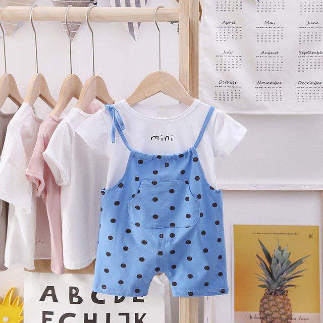 Herbabe 2019 Summer Infant Clothing Sets Newborn Baby Girl Clothes O-Neck Short Sleeve Boy Outfit Set Unisex Toddler Kid Carters