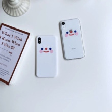 Korea INS super fire cute simple blush smiley face phone case For iphone Xs MAX XR X 6 6s 7 8 plus fun clear soft TPU back Cover aertemisi ins korea super fire candy color bear phone case for iphone xs max xr x 6 6s 7 8 plus cute wave point clear soft tpu