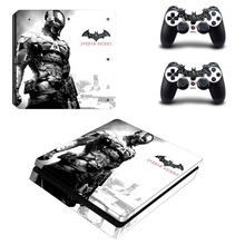 DC Batman and Superman PS4 Slim Skin Sticker Decal Vinyl for Playstation 4 Console and 2 Controllers PS4 Slim Skin Sticker dharma design skin decal sticker for the playstation 3 ps3 slim console