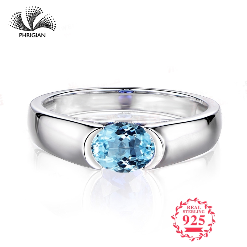 NOT FAKE Fine Engraving Ring S925 Sterling silver  Gemstone oval cut ring Women custom jewelry 925 carat Blue TOPAZ RINGNOT FAKE Fine Engraving Ring S925 Sterling silver  Gemstone oval cut ring Women custom jewelry 925 carat Blue TOPAZ RING