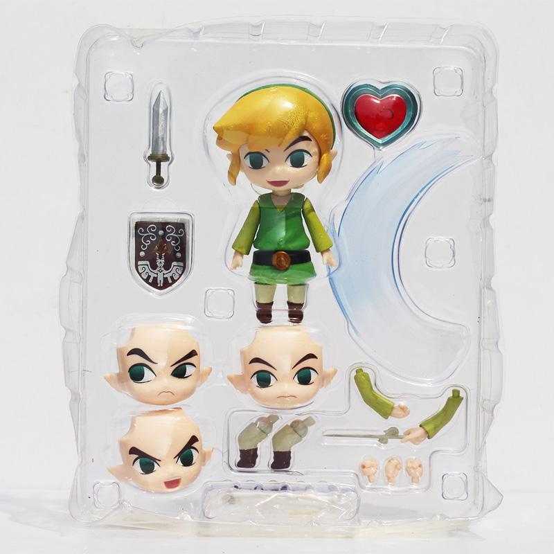 Cute Nendoroid The Legend of Zelda Link the Wind Waker Ver. #413 PVC Acton Figure Model Collection Toy 4 10cm the legend of zelda breath of the wild link statue pvc painted figure collectible model toy 10inch