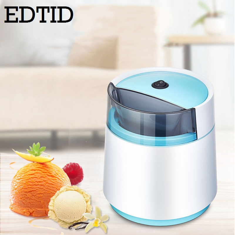 EDTID MINI Automatic DIY Ice Cream Maker Milkshake Icecream Machine Cool  Fruit Dessert Sorbet Freezer Milkshake Blender EU Plug