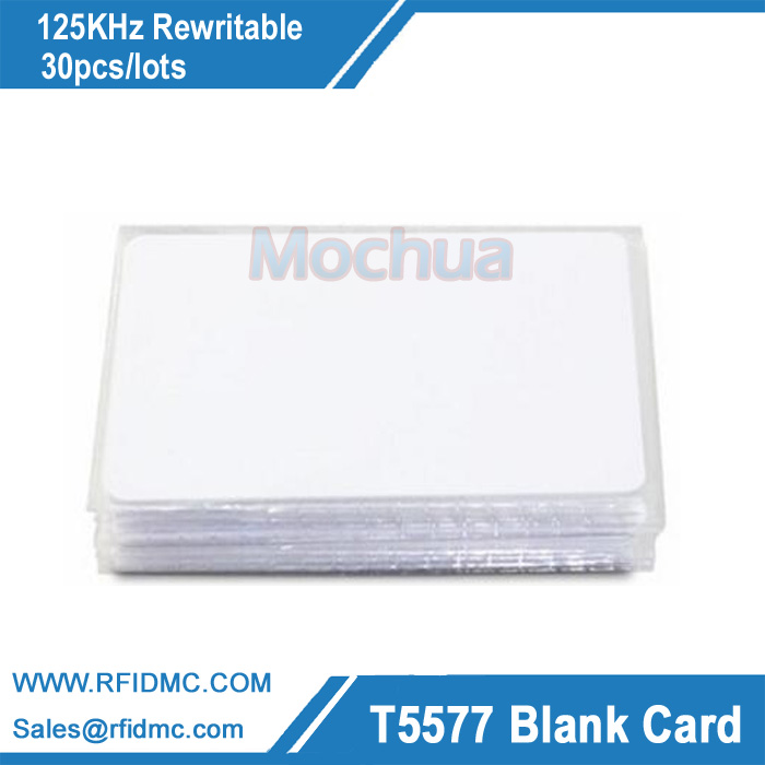 125KHz Rewritable Blank Card T5577 Card Atmel Chip RFID Blank Card 10pcs/lot