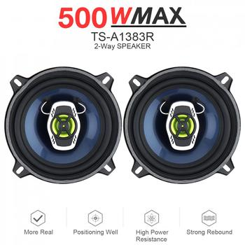 5 Inch 12V 500W 2 Way Car Coaxial Auto Audio Music Stereo Full Range Frequency Hifi Speakers Non-destructive Installation 2pcs 6 5 inch 12v 150w car coaxial speaker set vehicle door auto music stereo full range frequency hifi speakers non destructive