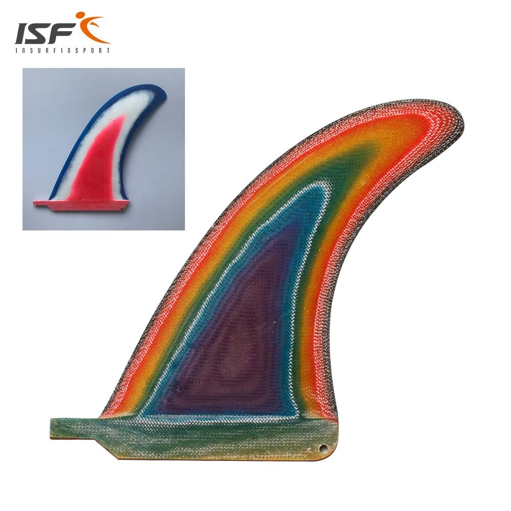 Free shipping 6 10 inch fiberglass color longboard fin quilhas de prancha de surf fin paddle