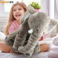 60cm Infant Elephant Pillow Plush Giant Soft Stuffed Toys Doll Animal Sleeping Back Cushion