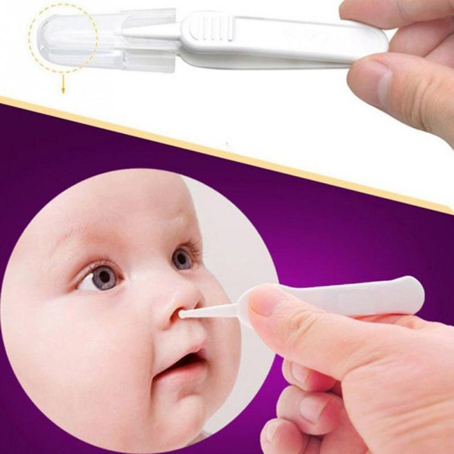 Toddlers 1 Pcs Daily Care Cleaning Tools Newborn Babies Nostril Cleaning Safety Plastic Tweezers Infants Ear Nose Navel Cleaner