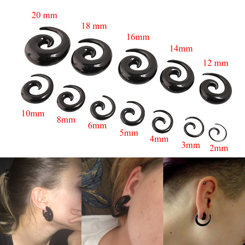 Tunnel in acrylique transparent shoulder size with 3 mm to 20 mm