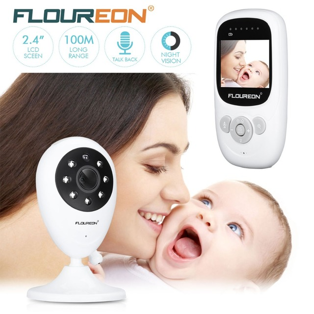 36b9f0f55149 Floureon 2.4G Wireless Video Baby Monitor SP880 Night Vision Two-way Talk  2.4 inch LCD Display Temperature Monitoring Nanny