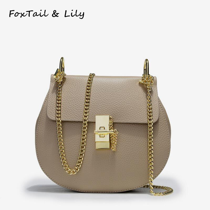 """""""FoxTail"""" ir """"Lily"""" korėjiečių natūralios odos grandinės krepšys moterims """"Crossbody"""" krepšiai moteriškoms rankinėms"""