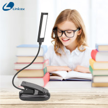 Mini COB LED Clip On Adjustable Book Reading Light Lamp Super Bright For Kindle Touch USB table LED Desk Light Lamp(China)