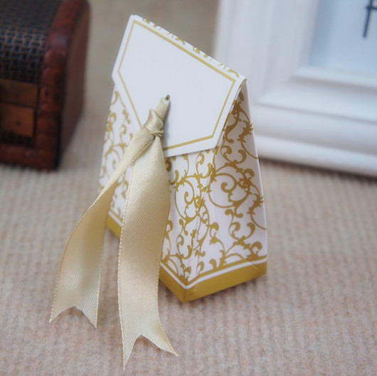 Gold Ribbon Wedding Favor Box Party Gift Favour Sugar Candy In Bags Wring Supplies From Home Garden On Aliexpress Alibaba Group