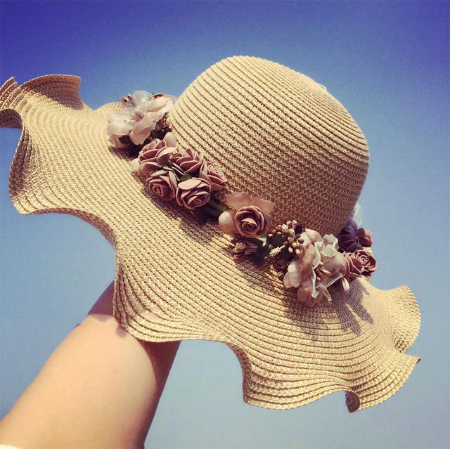 Garland Bow outdoor sun hat Women summer sun visor cap