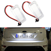 2X No Error 18LED SMD3528 Car LED License Plate Lights For Ford Focus DA3 DYB Fiesta