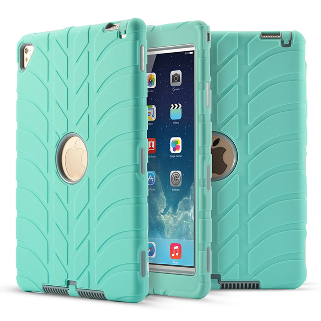 competitive price 4e81c c2896 US $13.59 15% OFF|Three In one Plastic striped Case For Apple iPad Mini 4  Shockproof Heavy Duty Rubber Hard Case Cover Screen Protective Sleeve-in ...