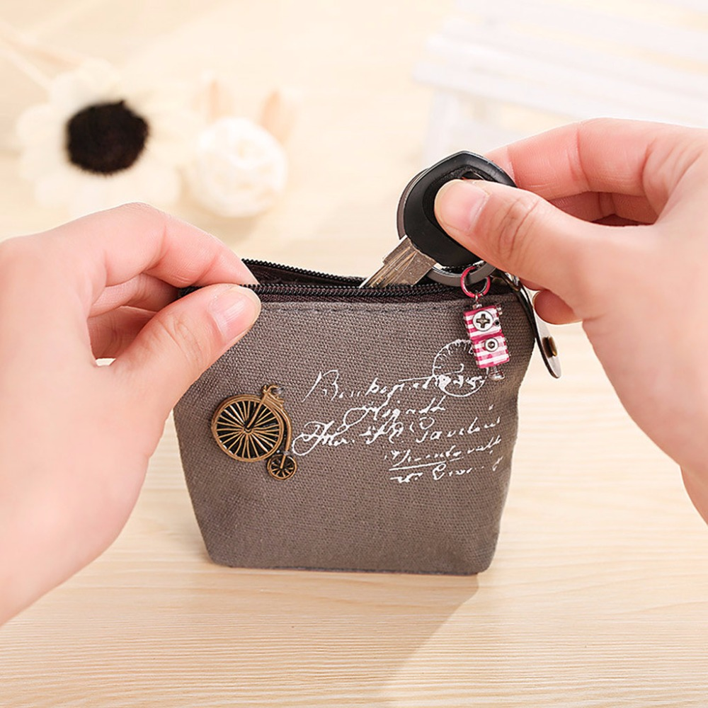 Women Lady Girl Retro Coin Bag Purse Wallet Card Holder Case Handbag Letter Printing Gift THINKTHENDO Brand New Cute Small Bags women 3 cute cat short wallet animal printing purse card holder coin bags