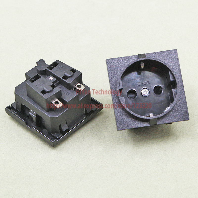 5pieces  Lot E 08 Germany European Ac Power Socket 16a 250v