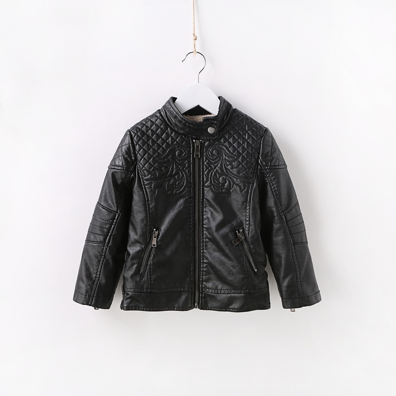 Spring Autumn Kids Jacket PU Leather boy Jackets Clothes Children Outwear For Baby boys jackets 893 2 14t baby boy clothes boys jacket leather spring letter boys outwear for children kids coats for boys baseball sweatershirt