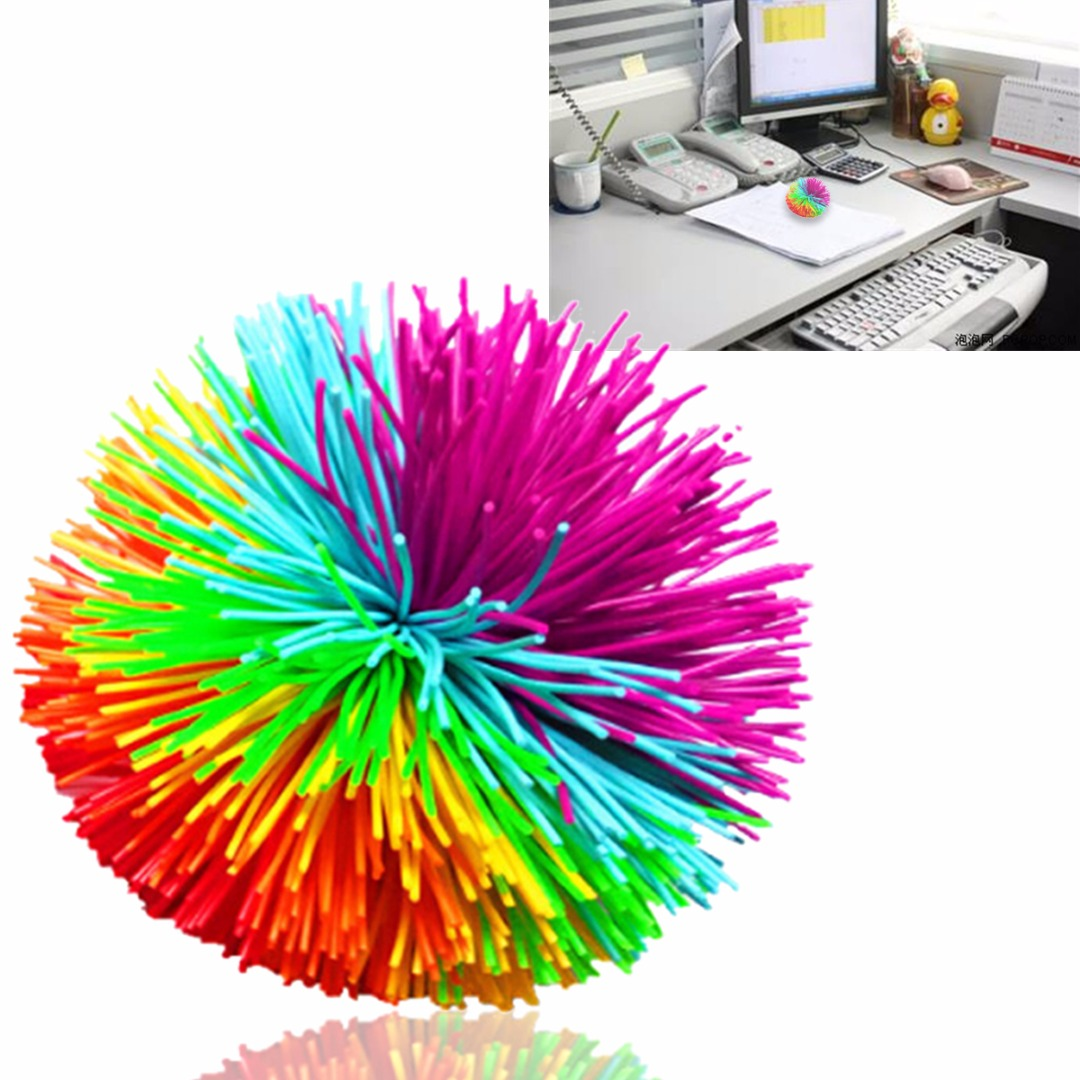 Image 3 - High Quality Kids Soft Stress Toy Ball Silicone Ball Sensory Stretchy Stress Relief Toy Ball For Kids-in Toy Balls from Toys & Hobbies