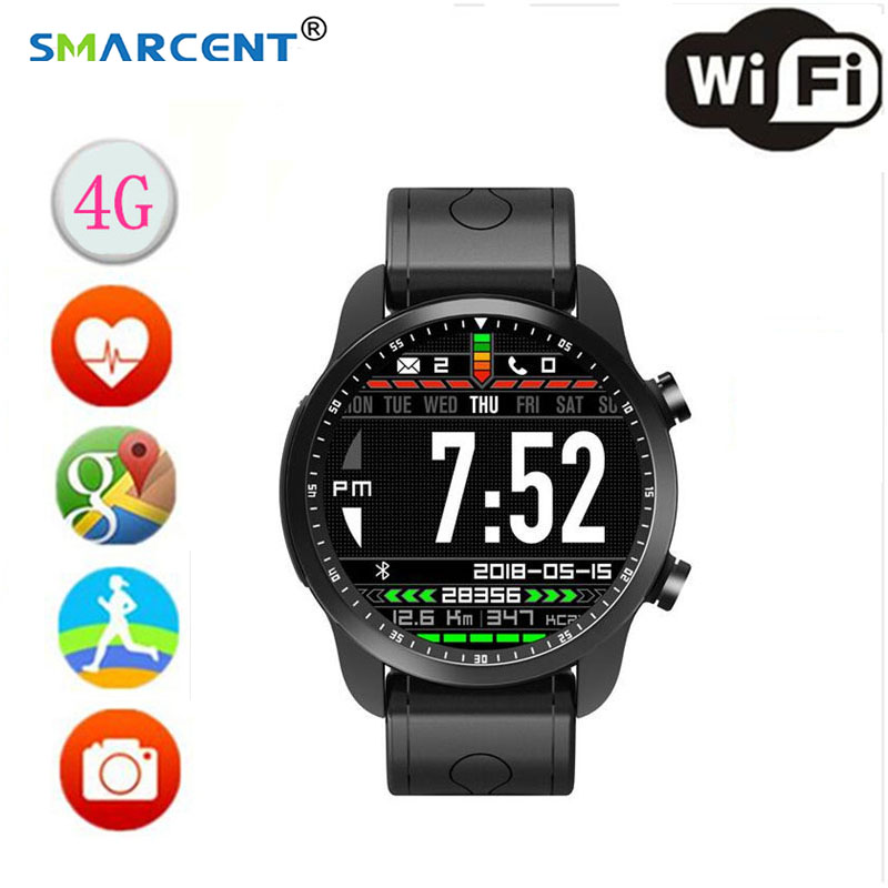 KC03 4G RAM 1 GB ROM 16 GB Android 6.0 1.3 pouces IPS LCD sport montre intelligente support GPS fitness tracker étanche