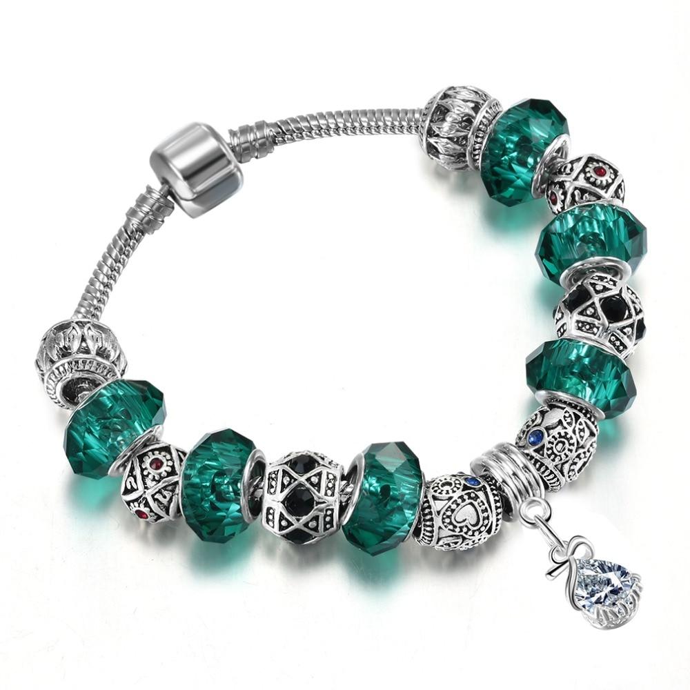 QIAMNI-Green-Murano-Glass-Beads-Snake-Chain-Pendant-Bracelet-Bangles-Fit-Women-Girl-Charm-Summer-Bohemia