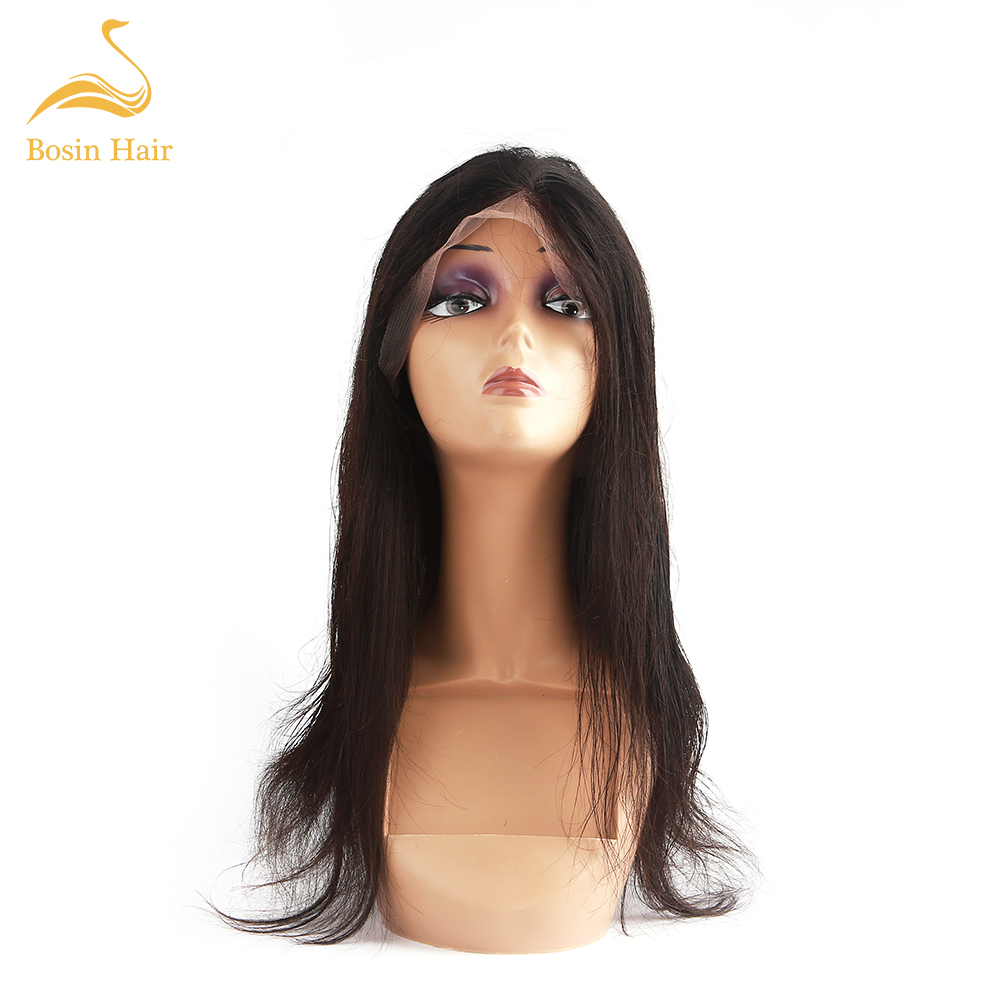 Bosin Straight 13*4 Frontal Lace  Human Hair  Pre-pelucked Wigs  With Baby Hair