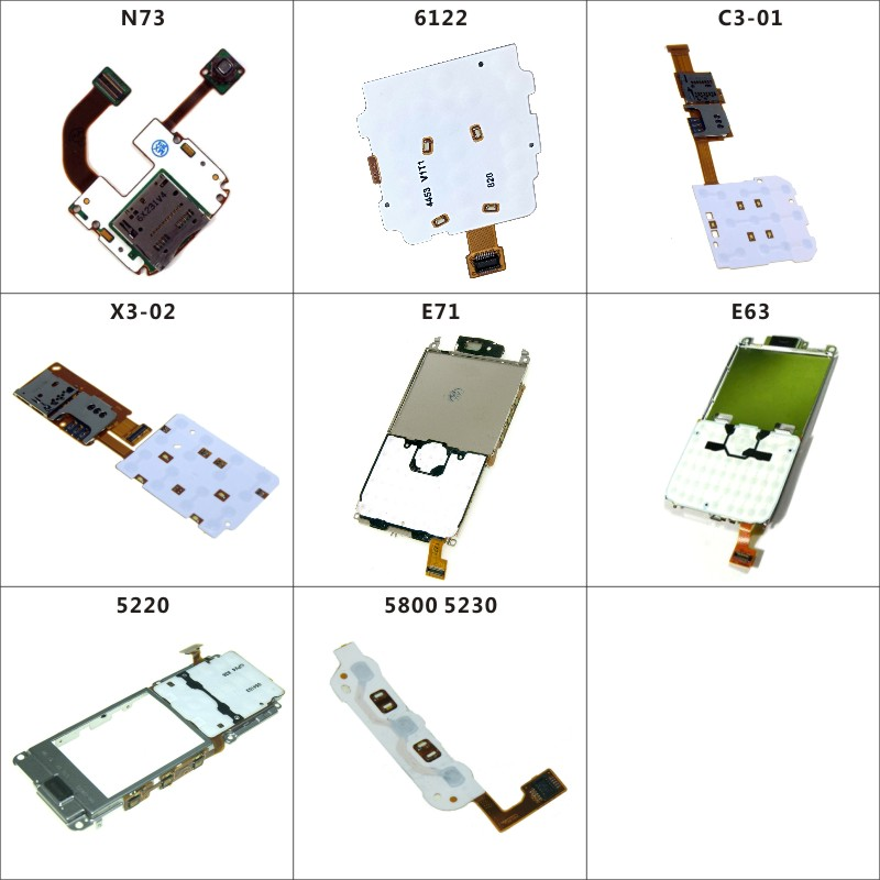 Mobile Phone Replacement Keypad Keyboard Joystick Membrane Flex Cable For Nokia N73 6122 C3-01 X3-02 E71 E63 5220 5800 5230