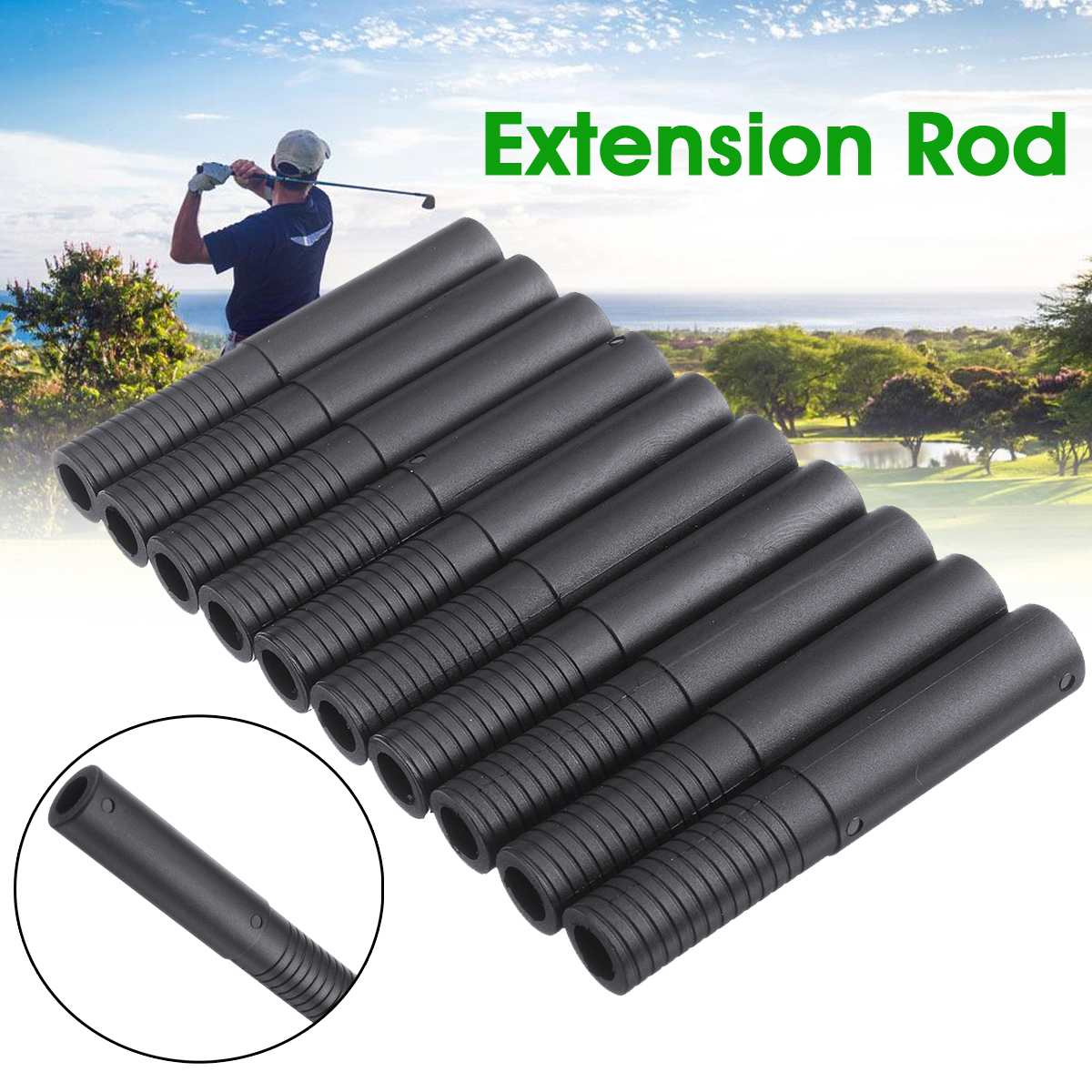 Sticks-Tools Golf-Club 10pcs Shaft Black Extension-Accessories Rod-Extender Steel-Shaft-Replacement