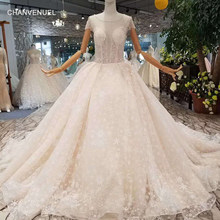 027d7324026ed LSS100 free shipping simple wedding dress o-neck short sleeves tulle  keyhole back customized 2018 new design wedding gowns
