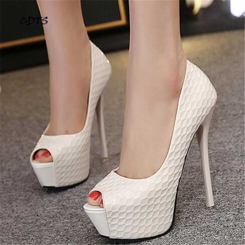 zapatos mujer Summer Patent Leather Sandals 14cm ultra high thin heels serpentine pattern open toe sweet pumps women's shoes summer new brand patent leather cachottiere 100mm women sandals fretwork peep toe high heels shoes woman pumps zapatos mujer