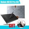 "Huion H610 Pro 10 ""x 6.25"" 5080 LPI Arte tableta Gráfica Dibujo + 15 ""guante de lana liner bolsa para macbook + anti-fouling (regalo)"