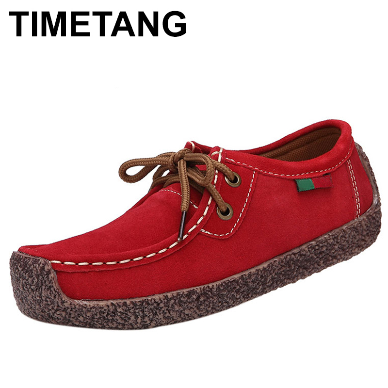 TIMETANG Fashion Woman Casual Shoes Wild Lace-up Loafers Women Flats Comfortable Footwear Woman Breathable Female Shoes C291 2017 summer new fashion women flats comfortable solid women casual shoes wild lace up loafers leisure warm ladies shoes dvt90