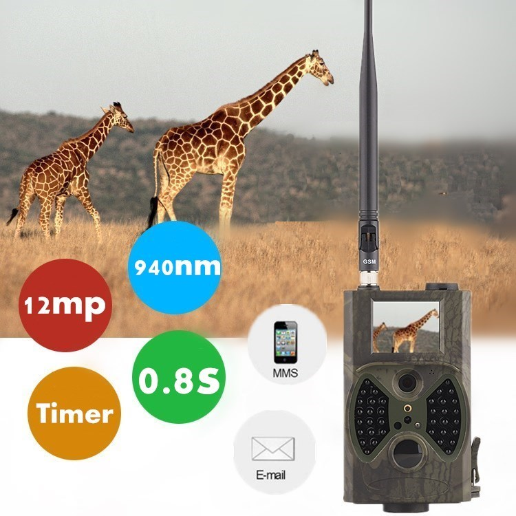 Hunting Camera GPRS GSM MMS SMS Trail cam 940nm infrared scouting thermal camera hunting for outdoor animal camera trap photos sim800 quad band add on development board gsm gprs mms sms stm32 for uno exceed sim900a unvsim800 expansion board