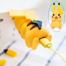 Kawaii Pikachu Usb Charger โทรศัพท์มือถืออะแดปเตอร์สำหรับ Samsung Galaxy S8 S7 S6 Edge S5 J7 j5 J3 A5 ฯลฯ