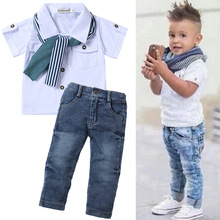 Kids Clothes Tracksuit For Boys Clothing Sets Summer Toddler Boys Clothes Outfit Children Clothing Boys Sport Suit 3 4 5 6 Year cheap Casual Turn-down Collar Pullover Polyester COTTON Short REGULAR Fits true to size take your normal size Coat Solid White