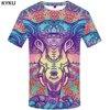 KYKU Elephant Tshirt Men Animal T-shirt Colorful Flower 3d Print T Shirt Anime Clothes Gothic Hip Hop Mens Clothing Streetwear