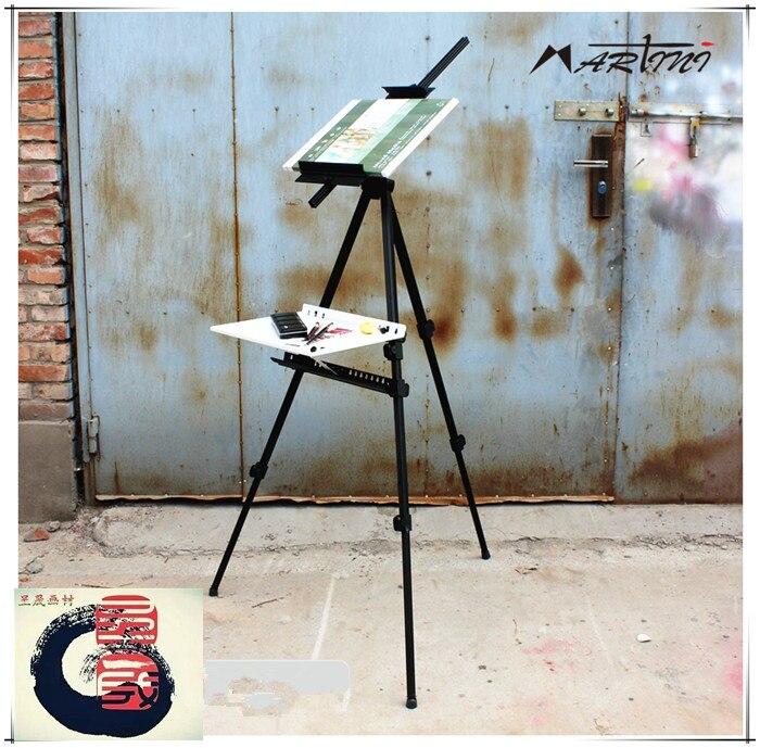 Korea Expert grade Portable Adjustable Folding Telescopic Artist Art Field Studio Painting Tripod Display Easel Stand Mini Easel