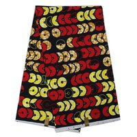 (6yards/pcs)2017 Top quality black&red&yellow coins design hollandis wax for sewing african church uniform Feb-22-2017)