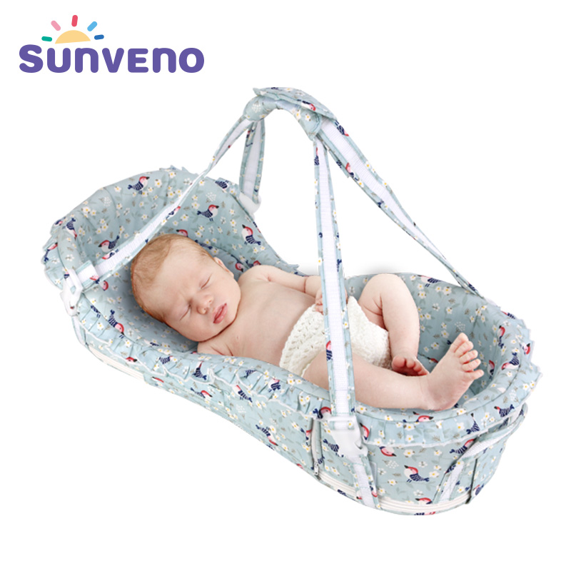 SUNVENO Portable Baby Crib Baby Basket Bed Sleeping Cribs Travel Cradle Newborn Infant Bedding Sleep Travel Bed Baby Bed цена 2017