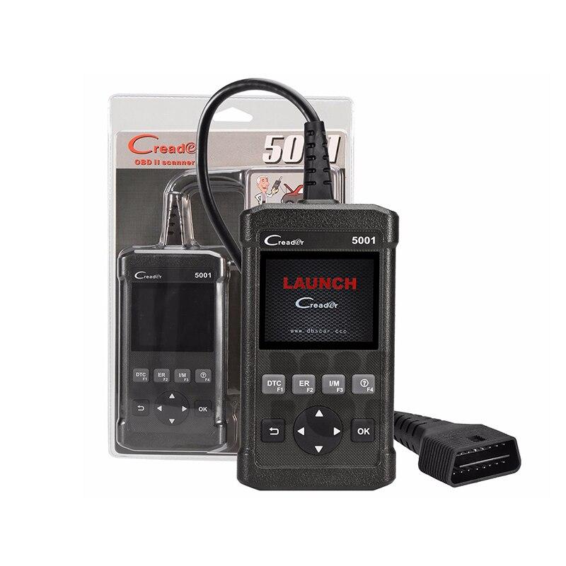 Диагностический инструмент Launch CReader 5001 CR5001 считыватель кодов полный OBDII/EOBD функции Авто сканер та же функция, что и Autel AL519