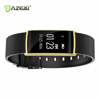 Azexi New Smart Wristband 0 96 Inch Heart Rate Monito BT 4 0 IP67 Waterproof Message