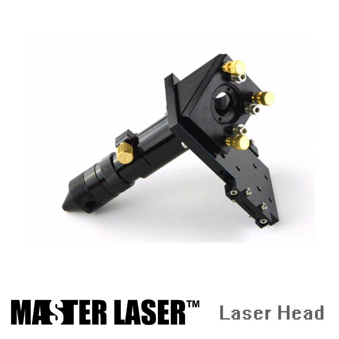 Laser Lens DIA 20mm FL100mm 4inch Mirror DIA 25mm with Gas Nozzle CO2 Laser Cutting Machine Components Laser Head
